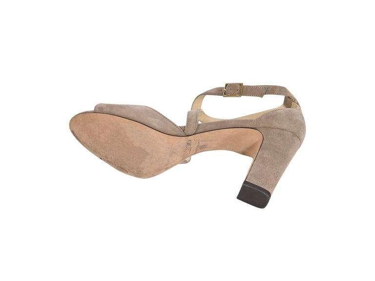 Women's Jimmy Choo Beige Suede Sandals For Sale