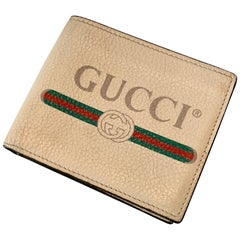 Beige Leather Italian Gucci Wallet