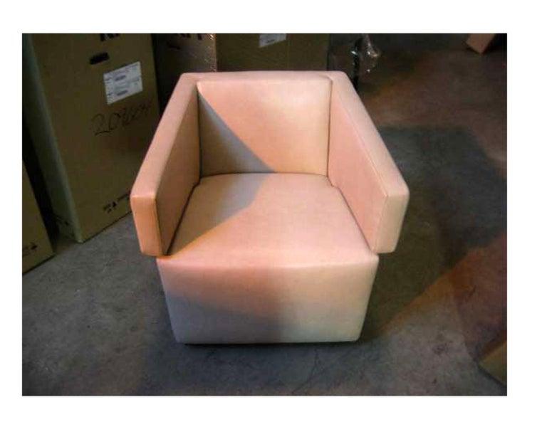 Wittmann Jazz chair Beige leather Measures: 67 x 73 x 66 cm Original: $4,500.