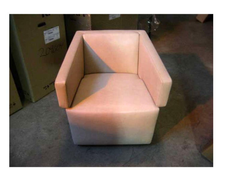 Wittmann Beige Leather Jazz Armchair In Good Condition For Sale In New York, NY