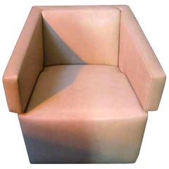 Beige Leather Jazz Armchair