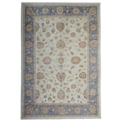 Beige Light Blue Oriental Rug Cream Persian Style Rugs as Floral Living Room Rug