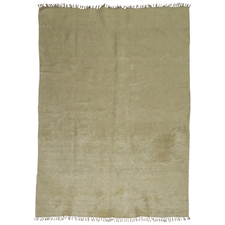 Beige Mohair Rug For Sale