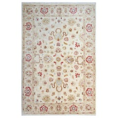 Beige Oriental Rug, Cream Persian Style Rugs, Floral Living Room Rugs