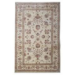 Beige Oriental Rug Persian Carpet Style Rugs Living Room Rugs Handwoven Cream