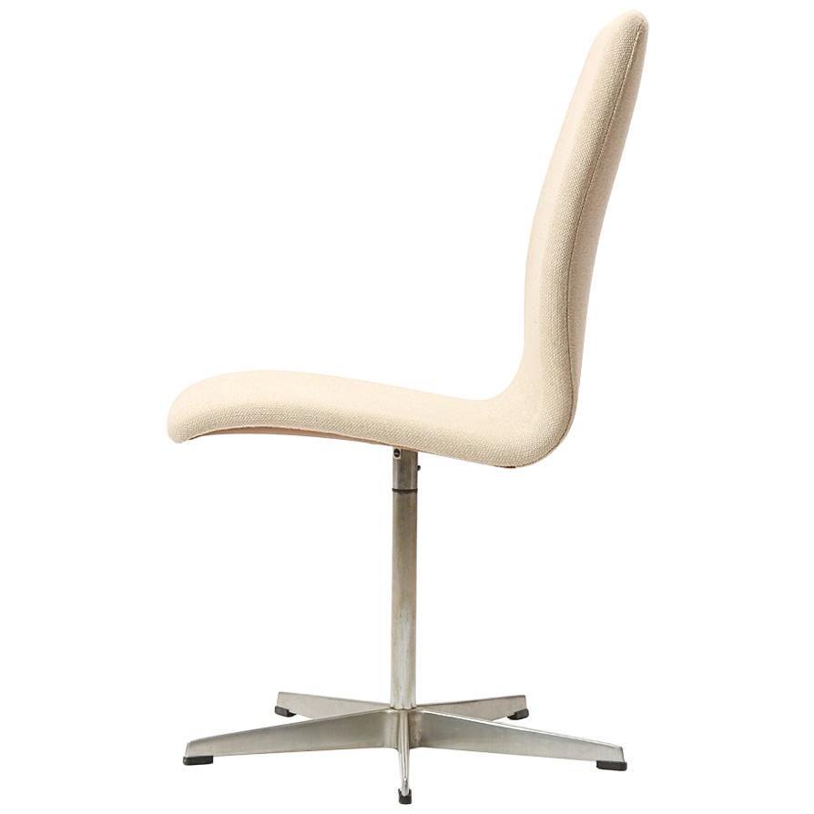 1965 'Oxford' Chair by Arne Jacobsen for Fritz Hansen in Original Beige Wool