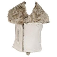 Beige Rick Owens Shearling Vest
