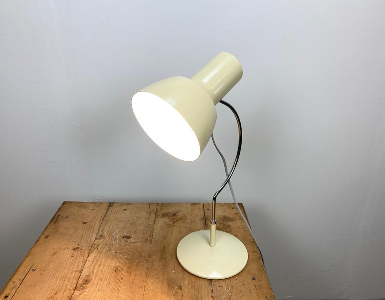 Beige Table Lamp by Josef Hurka for Napako, 1960s For Sale 2