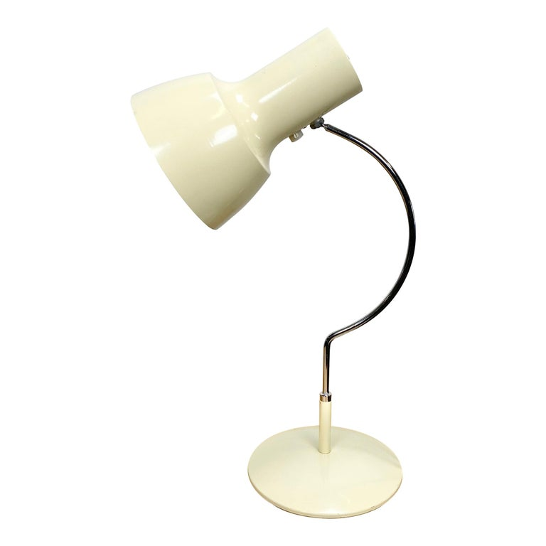 Beige Table Lamp by Josef Hurka for Napako, 1960s For Sale
