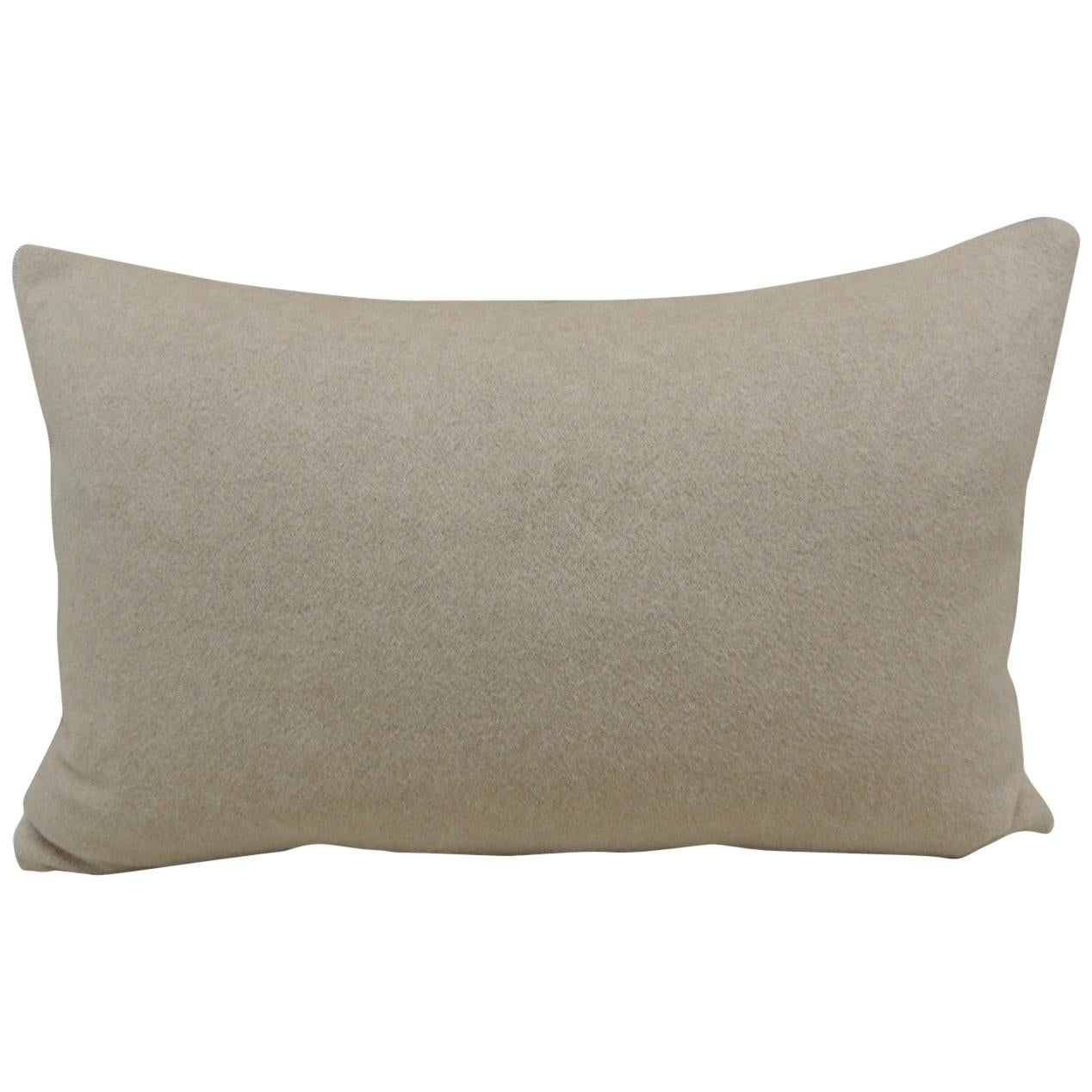 Beige Tone-on-tone Loro Piana Cashmere Decorative Lumbar Pillow