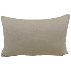Beige Tone-on-tone Loro Piana Cashmere Decorative Lumbar Pillow