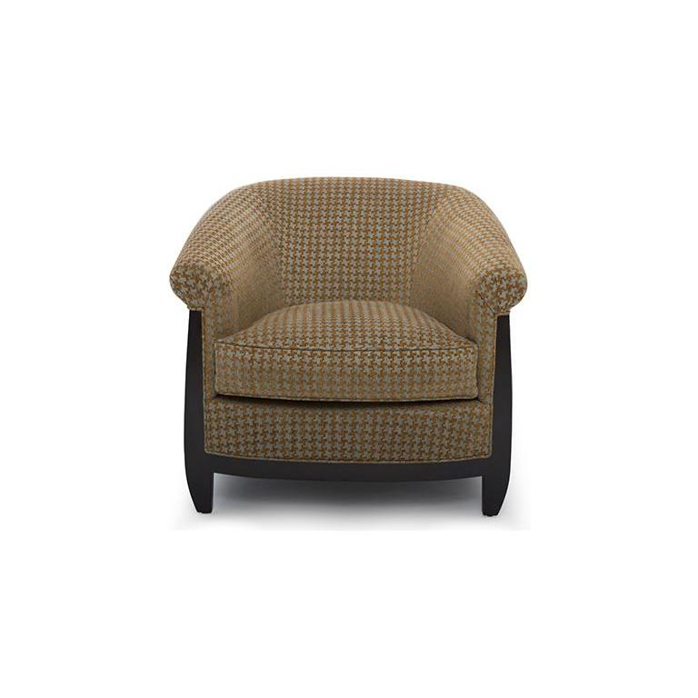 "With a unique silhouette, the Bel Air accent chair guides a Classic chair to the modern era. The rich wood frame supports a fully upholstered chair with a down wrapped foam seat. Features a signature wood ""V"" detail at the top of the seat back. The"