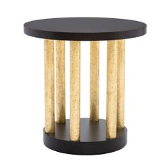 Bel Air Accent Table II in Chocolate and Antiqued Gold by Badgley Mischka Home
