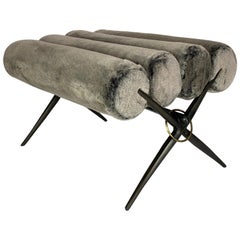 Bel Air Bench, Faux Fur, by Bourgeois Boheme Atelier
