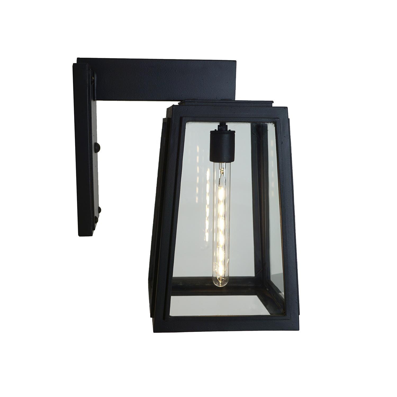 Bel Air II Tapered Arm Mount Lantern, Contemporary Lighting Fixture, Grey