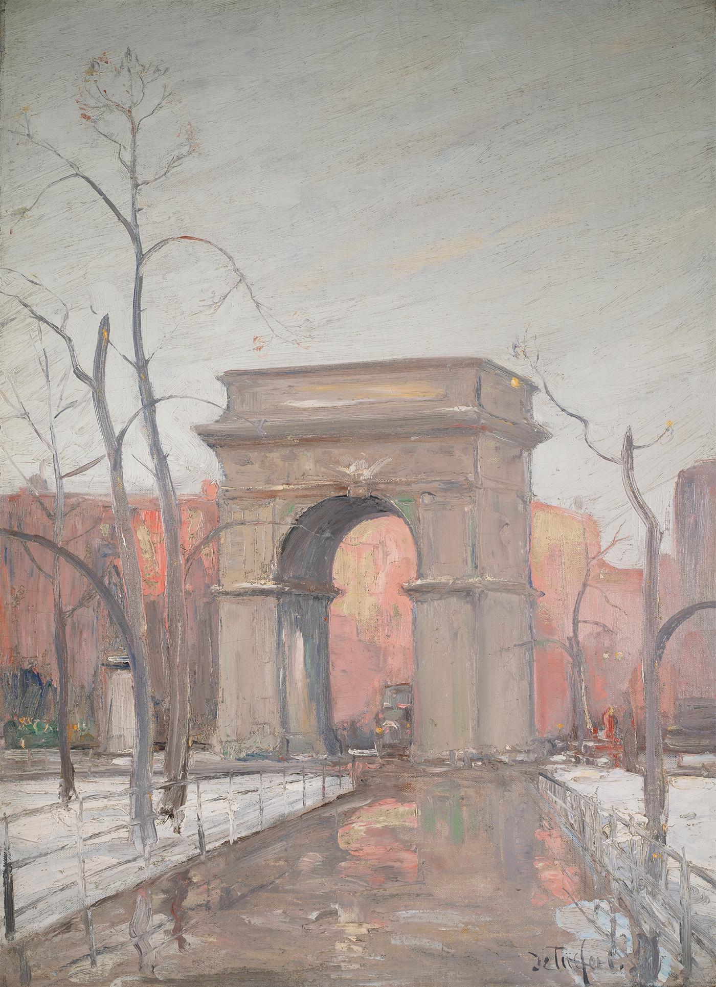 Winter in Washington Square Park