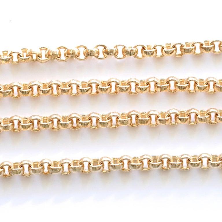 Belcher Link 14 Karat Gold Chain In Excellent Condition For Sale In Beverly Hills, CA