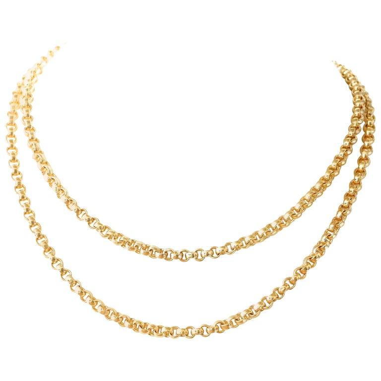 Belcher Link 14 Karat Gold Chain For Sale