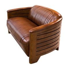 Belfast Leather Sofa, 20th Century