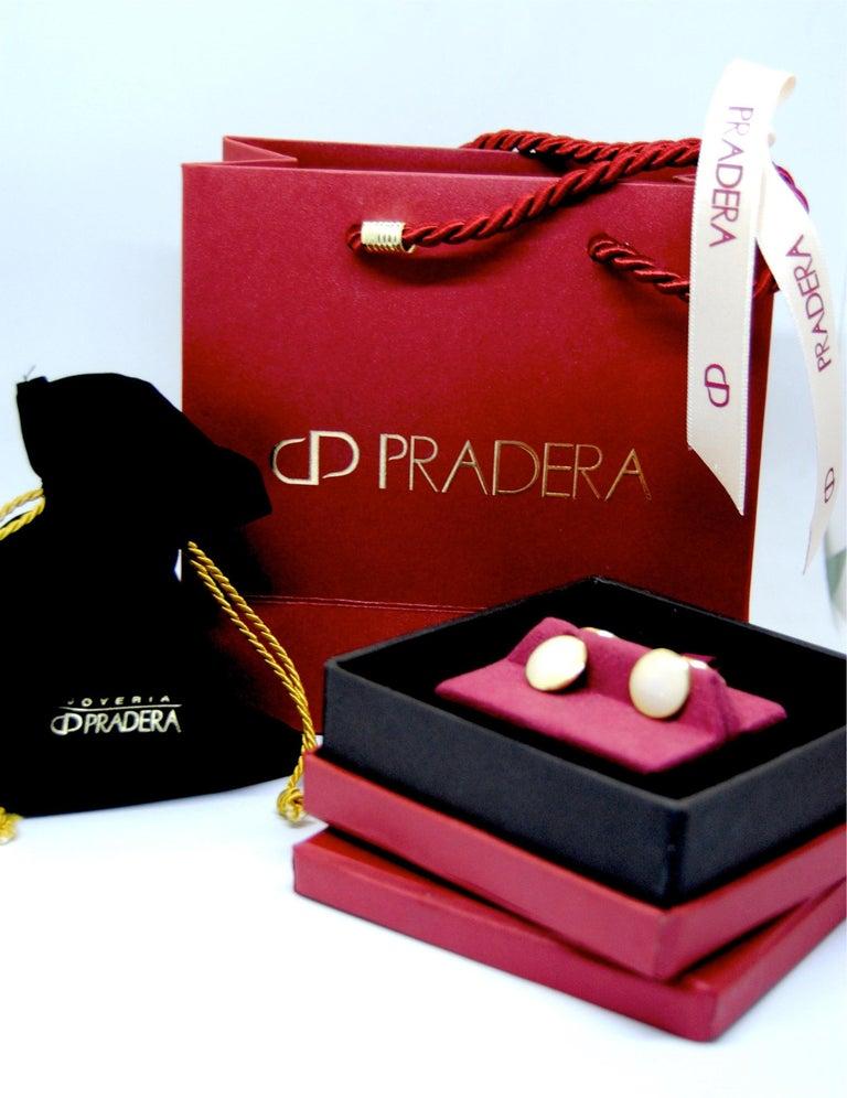 Belfiore Florentine Jewellers 18 Karat Gold and Enamel Cufflinks In Excellent Condition For Sale In Bilbao, ES