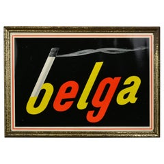 Belga Cigarettes Advertising Sign by Rob Otten, Framed Cellulite, 1954