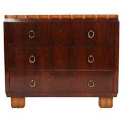 Belgian 1920s Hardwood Chest of Drawers