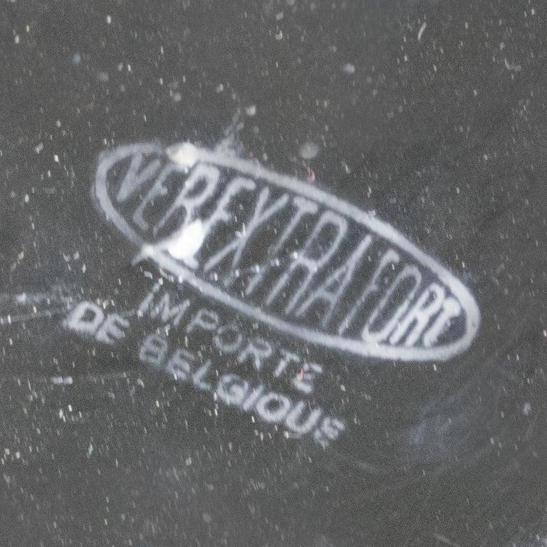 Belgian 1950s Oversized Black Glass Vase For Sale 2