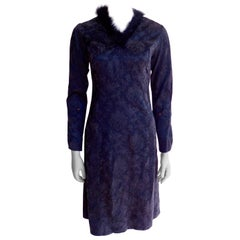 Belgian Anna Heylen Dress with Fur Collar