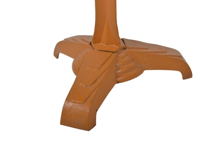 Belgian Art Deco Bistro Table Cast Iron, 1920 For Sale 4