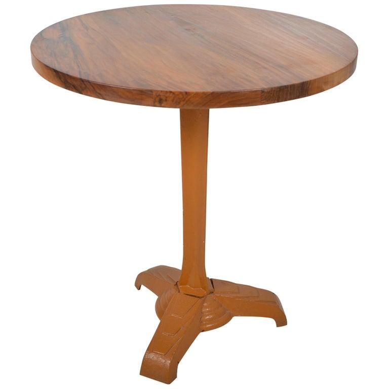Belgian Art Deco Bistro Table Cast Iron, 1920 For Sale