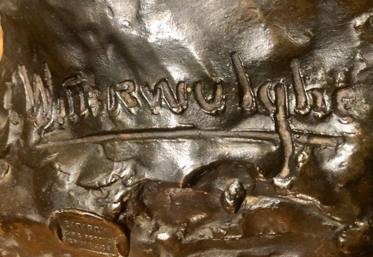 Belgian Art Deco Bronze Female Sculpture by Joseph Witterwulghe For Sale 5