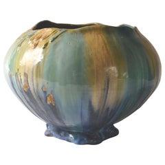 Belgian Art Nouveau Ceramic Vase, circa 1910