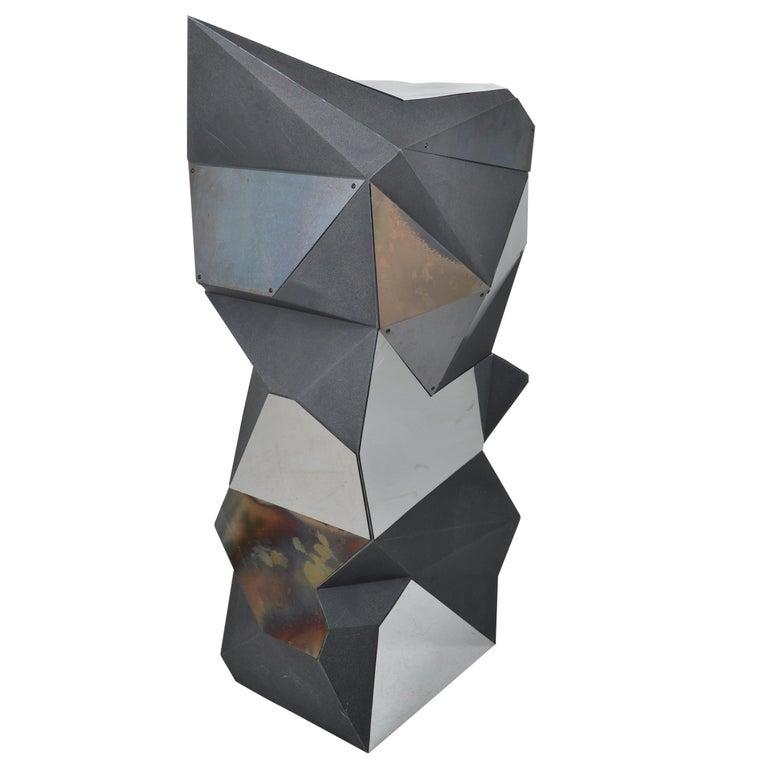 Belgian Asymmetrical Mirror Object / Pedestal, 1970 For Sale
