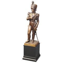 Belgian Bronze Figure of a Grenadier