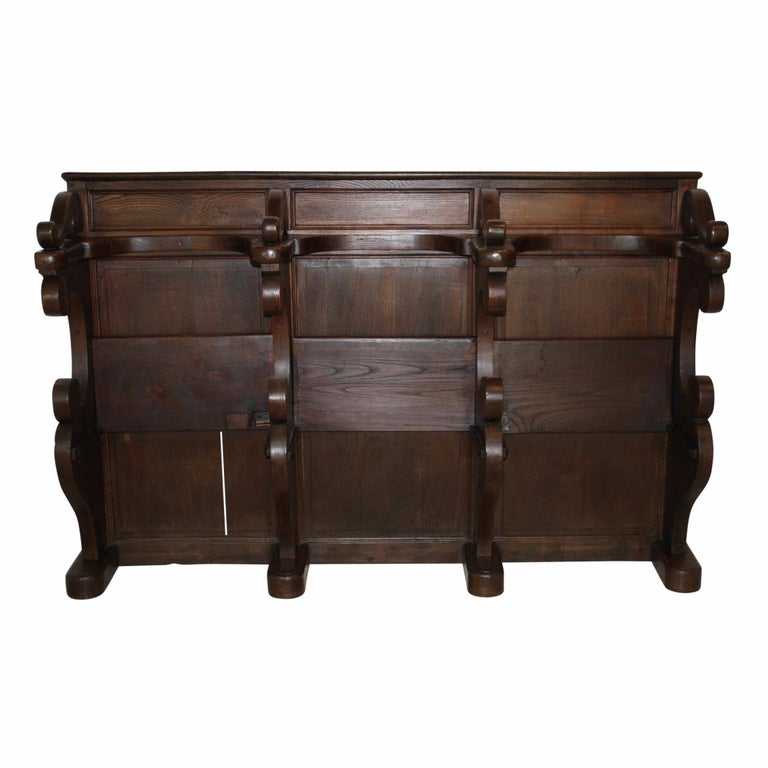 Pew Bench Seating Kitchen Ct: Belgian Church Pew/Choir Stall, Circa 1890 For Sale At 1stdibs
