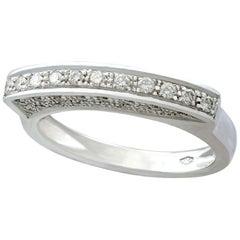 Belgian Diamond and White Gold Half Eternity Ring
