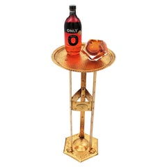 Belgian Drinks Table or Side Table in Gilt Wrought Iron