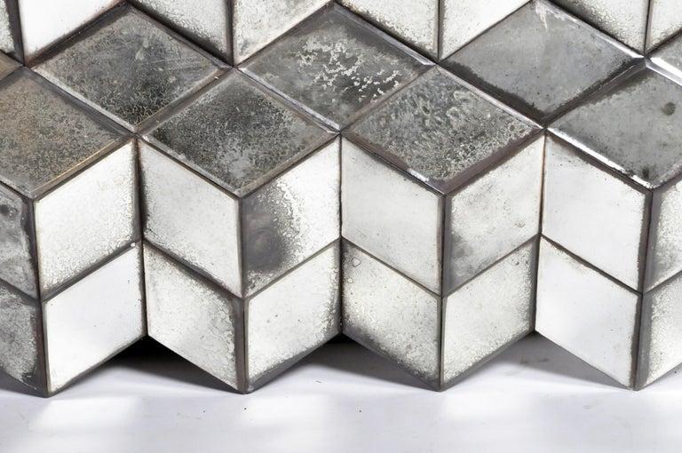Belgian Glass Cube Brutalist Art Panel by Olivier de Shernee For Sale 7