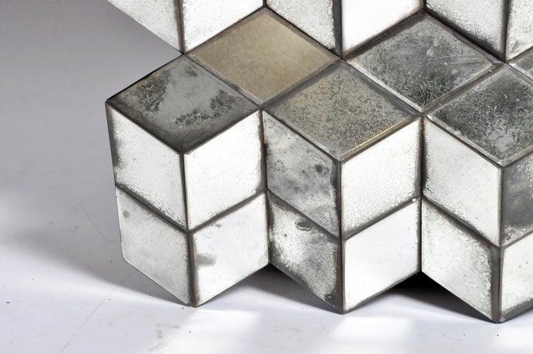 Belgian Glass Cube Brutalist Art Panel by Olivier de Shernee For Sale 8