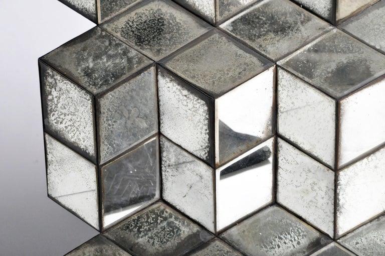Belgian Glass Cube Brutalist Art Panel by Olivier de Shernee For Sale 9