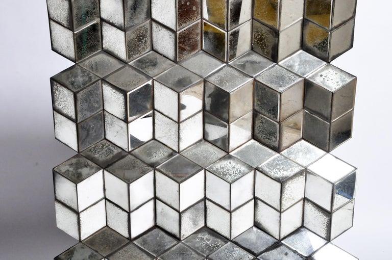 Belgian Glass Cube Brutalist Art Panel by Olivier de Shernee For Sale 10