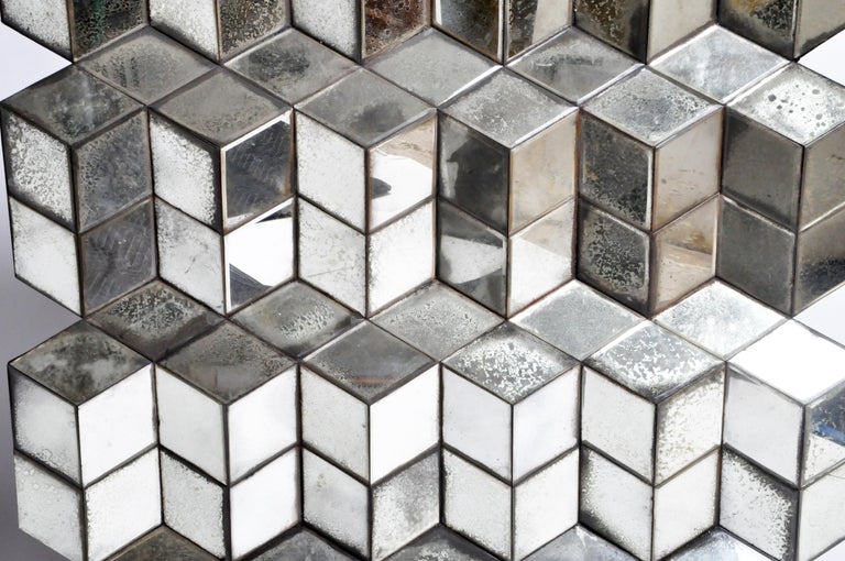 Belgian Glass Cube Brutalist Art Panel by Olivier de Shernee For Sale 11