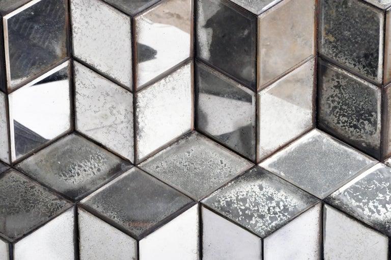 Belgian Glass Cube Brutalist Art Panel by Olivier de Shernee For Sale 12