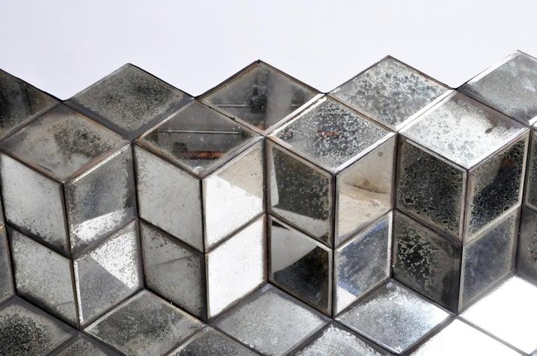 Belgian Glass Cube Brutalist Art Panel by Olivier de Shernee For Sale 13