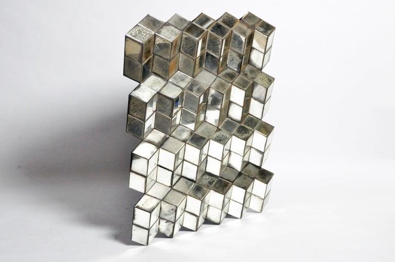Belgian Glass Cube Brutalist Art Panel by Olivier de Shernee For Sale 14