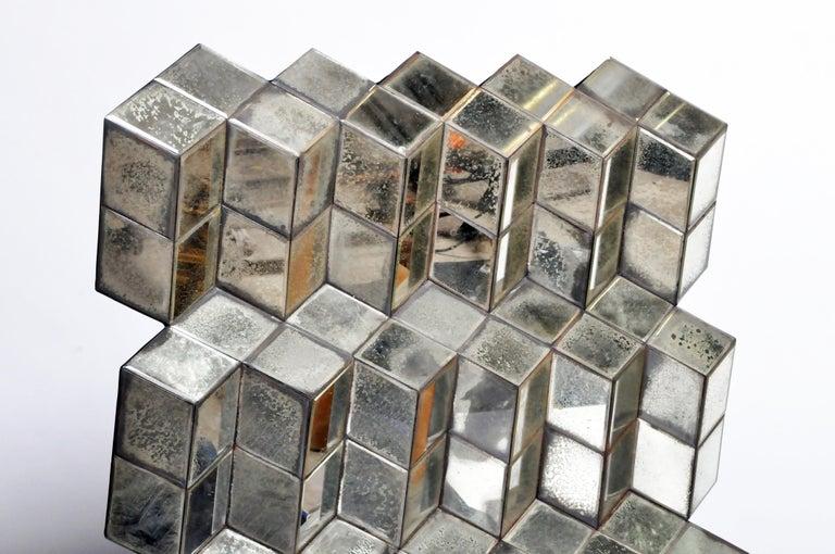 Belgian Glass Cube Brutalist Art Panel by Olivier de Shernee For Sale 15