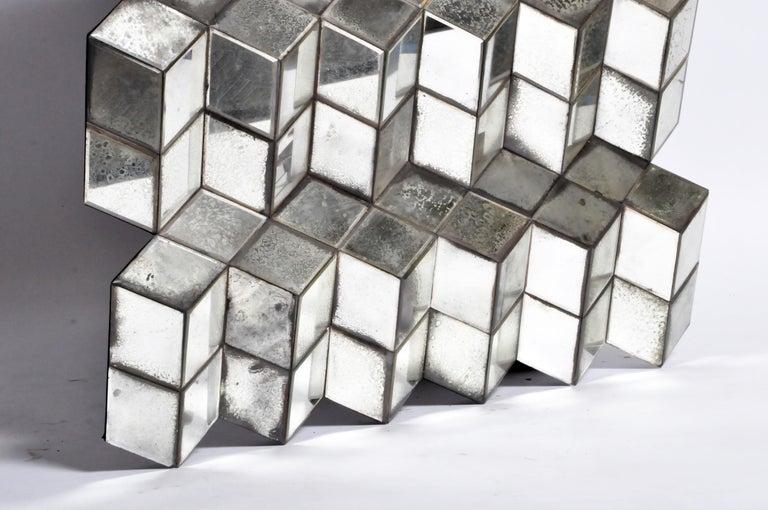 Belgian Glass Cube Brutalist Art Panel by Olivier de Shernee For Sale 16