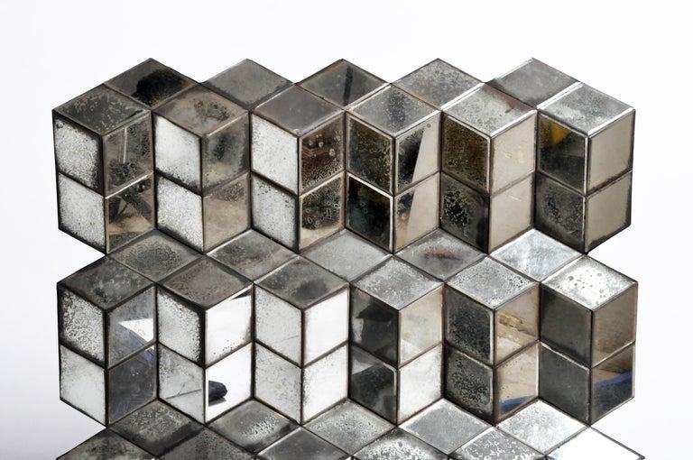 Contemporary Belgian Glass Cube Brutalist Art Panel by Olivier de Shernee For Sale