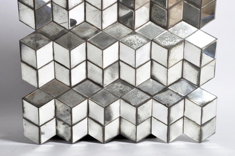 Belgian Glass Cube Brutalist Art Panel by Olivier de Shernee For Sale 1