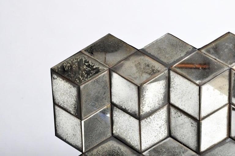 Belgian Glass Cube Brutalist Art Panel by Olivier de Shernee For Sale 2